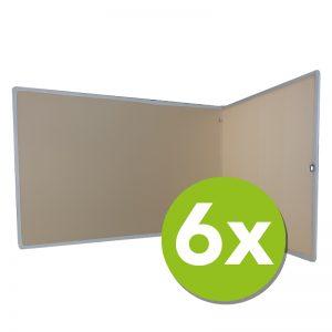Concentratiescherm pakket 6x FocusBoard L-vorm Offwhite