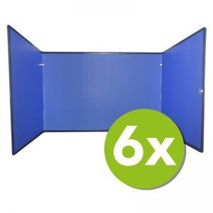 Concentratiescherm pakket 6x FocusBoard U-vorm Luchtblauw
