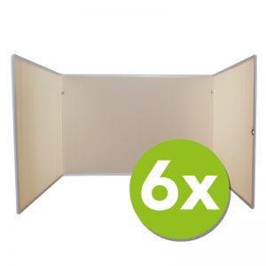 Concentratiescherm pakket 6x FocusBoard U-vorm Offwhite